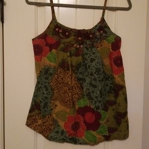 Floral Tank with Beading
